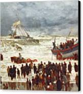 The Lifeboat Canvas Print by William Lionel Wyllie