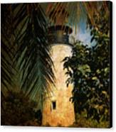 The Lighthouse In Key West Canvas Print by Susanne Van Hulst