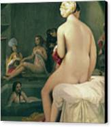 The Little Bather In The Harem Canvas Print by Jean Auguste Dominique Ingres