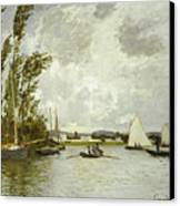 The Little Branch Of The Seine At Argenteuil Canvas Print by Claude Monet