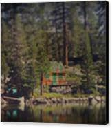 The Little Cabin Canvas Print by Laurie Search