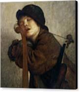 The Little Violinist Sleeping Canvas Print by Antoine Auguste Ernest Hebert