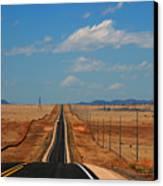 The Long Road To Santa Fe Canvas Print by Susanne Van Hulst