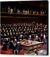 The Lord Chancellor About To Put The Question In The Debate About Home Rule In The House Of Lords Canvas Print by English School