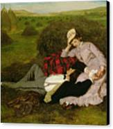The Lovers Canvas Print by Pal Szinyei Merse