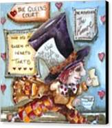 The Mad Hatter - In Court Canvas Print by Lucia Stewart
