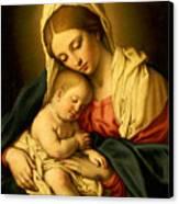 The Madonna And Child Canvas Print by Il Sassoferrato