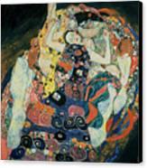 The Maiden Canvas Print by Gustav Klimt