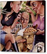 The Man And His Sweethearts Canvas Print by Denny Bond