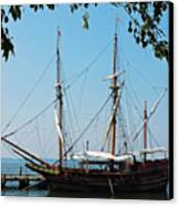 The Maryland Dove Ship Canvas Print by Thomas R Fletcher