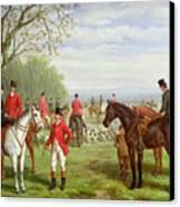 The Meet Canvas Print by Edward Benjamin Herberte