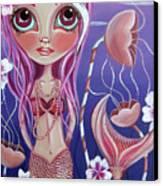 The Mermaid's Garden Canvas Print by Jaz Higgins