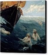 The Mermaid's Rock Canvas Print by Edward Matthew Hale
