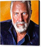 The Most Interesting Man In The World II Canvas Print by Debora Cardaci