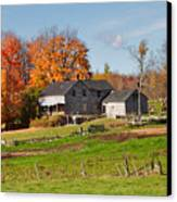 The Old Farm In Autumn Canvas Print by Louise Heusinkveld