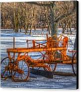 The Old Grader Canvas Print by Robert Pearson