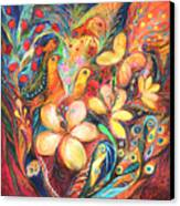 The Orange Wind Canvas Print by Elena Kotliarker