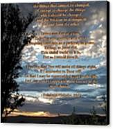 The Original Serenity Prayer Canvas Print by Glenn McCarthy Art and Photography