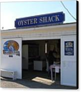The Oyster Shack At Drakes Bay Oyster Company In Point Reyes California . 7d9832 Canvas Print by Wingsdomain Art and Photography