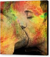 The Passion Of A Kiss 1 Canvas Print by Mark Ashkenazi