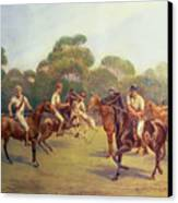 The Polo Match Canvas Print by C M  Gonne