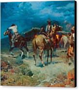 The Pony Express Canvas Print by Frank Tenney Johnson