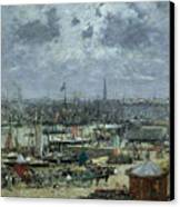 The Port Of Bordeaux Canvas Print by Eugene Louis Boudin