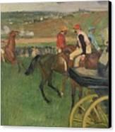 The Race Course Canvas Print by Edgar Degas