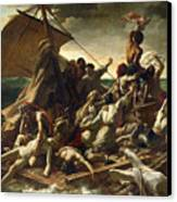 The Raft Of The Medusa Canvas Print by Theodore Gericault