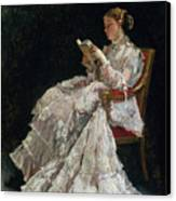 The Reader Canvas Print by Alfred Emile Stevens