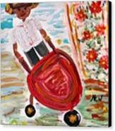 The Red Steel Barrow Canvas Print by Mary Carol Williams