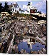 The Reflection At Pemaquid Canvas Print by Skip Willits