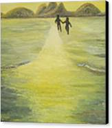 The Road In The Ocean Of Light Canvas Print by Karina Ishkhanova