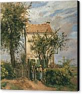 The Road To Rueil Canvas Print by Camille Pissarro