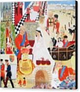 The Royal Wedding Canvas Print by Pat Barker