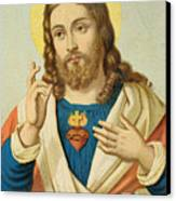 The Sacred Heart Canvas Print by French School
