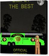 The Scream World Tour Tennis Tour Bus Simply The Best Canvas Print by Eric Kempson