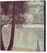 The Seine At Courbevoie Canvas Print by Georges Pierre Seurat
