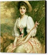 The Shepherdess Canvas Print by Sir Samuel Luke Fildes