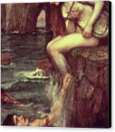 The Siren Canvas Print by John William Waterhouse