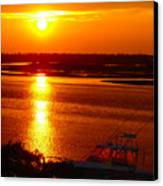 The Sound Of Sunset Canvas Print by Laura Brightwood