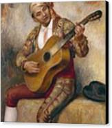The Spanish Guitarist Canvas Print by Pierre Auguste Renoir