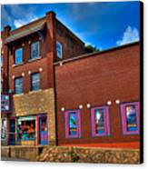 The Strand Theatre - Old Forge New York Canvas Print by David Patterson