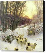 The Sun Had Closed The Winter's Day  Canvas Print by Joseph Farquharson