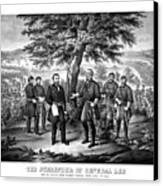 The Surrender Of General Lee  Canvas Print by War Is Hell Store