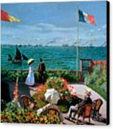 The Terrace At Sainte Adresse Canvas Print by Claude Monet