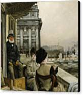 The Terrace Of The Trafalgar Tavern Greenwich Canvas Print by James Jacques Joseph Tissot