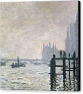 The Thames Below Westminster Canvas Print by Claude Monet