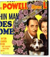 The Thin Man Goes Home, William Powell Canvas Print by Everett
