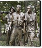 The Three Soldiers By Frederick Hart Canvas Print by Everett